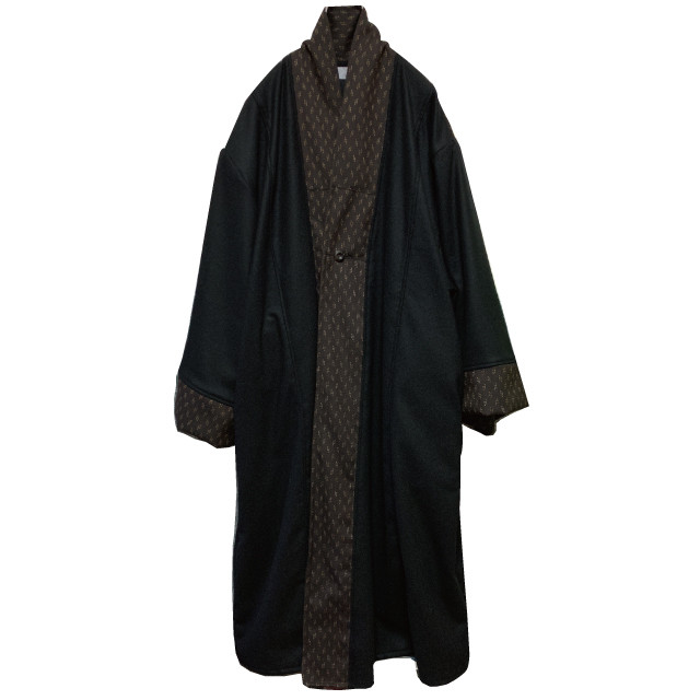 haori coat (black/gold)