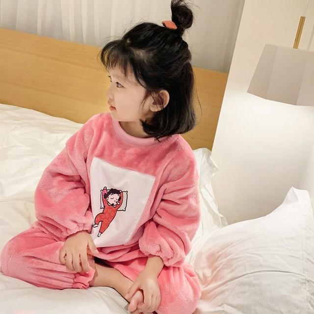 【ルームウェア·パジャマ】シンプルプリント長袖レギュラー丈パジャマ24892362