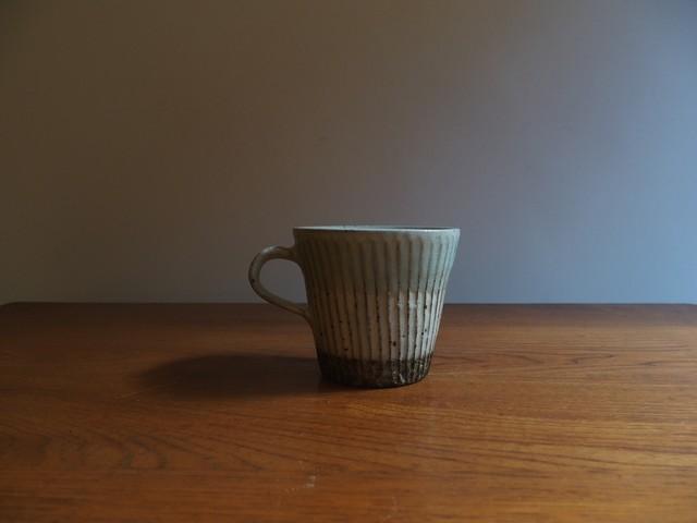 薮本寛之 マグカップ筒 水色鎬