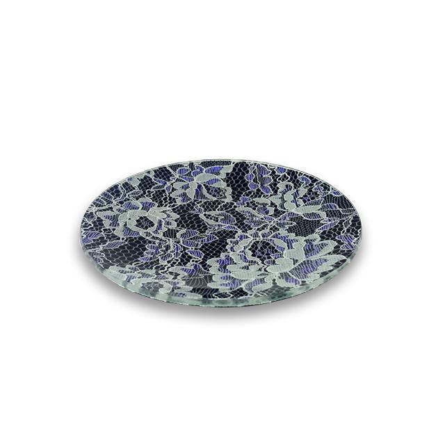 ガラストレー #82211BP ブラック(15cm 丸皿)