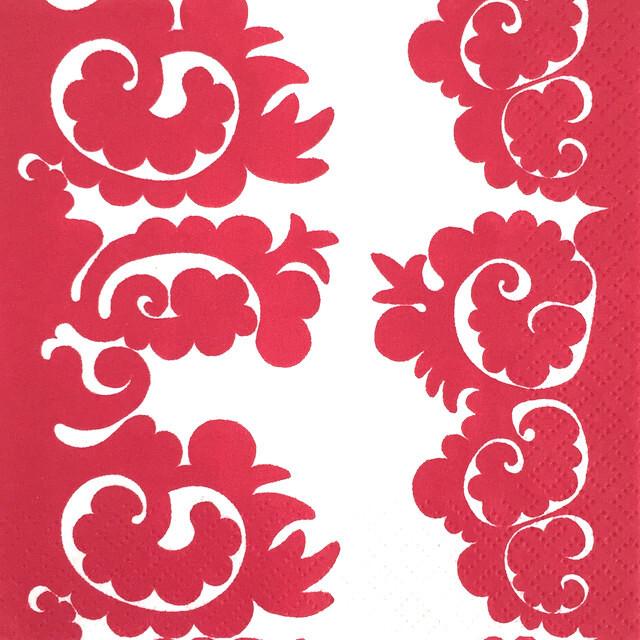 【marimekko】バラ売り1枚 カクテルサイズ ペーパーナプキン SAMOVAARI レッド