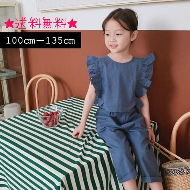 【3-8歳】韓国ファッション☆ブラウス+パンツ (345)