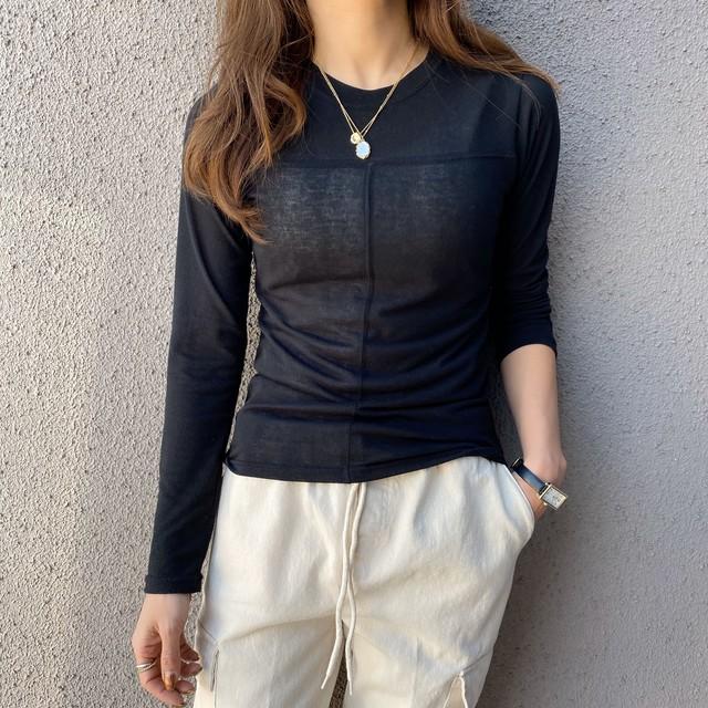 シアーcloth line cottonストレッチ/ブラック