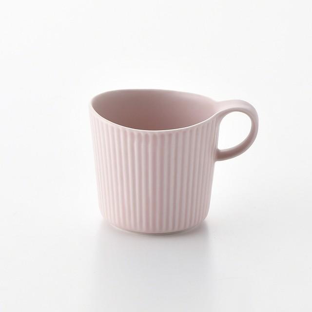 線彫 ピンク マグカップ大
