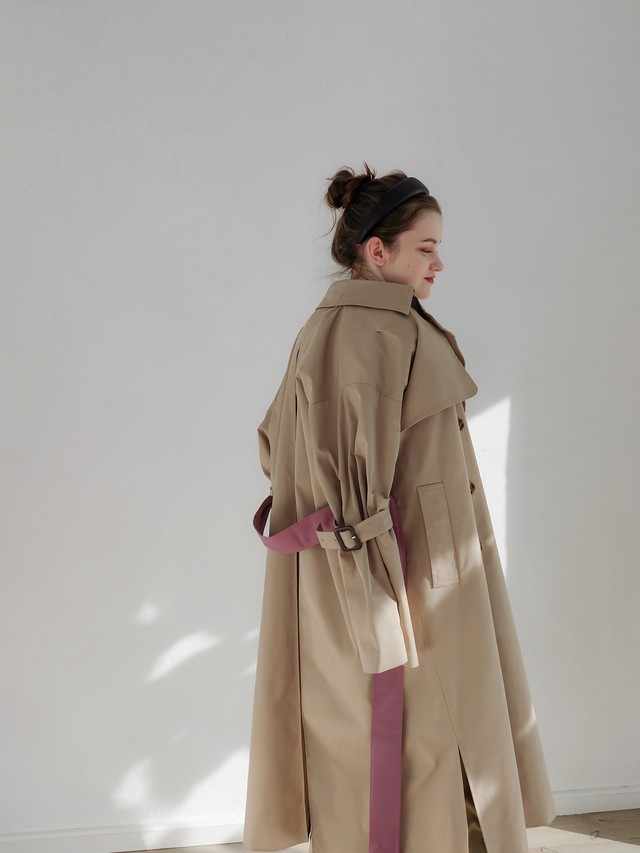 bell sleeve trench(beige)