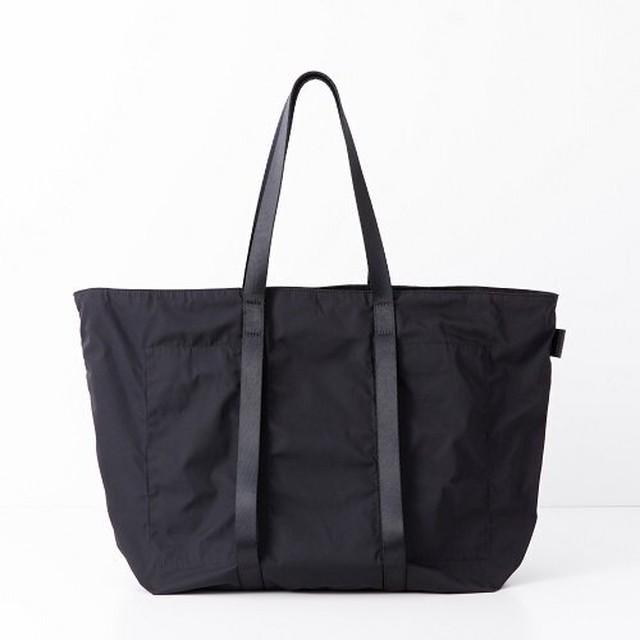 AMIACALVA(アミアカルヴァ) /Gabardine Tote(L) -BLACK-
