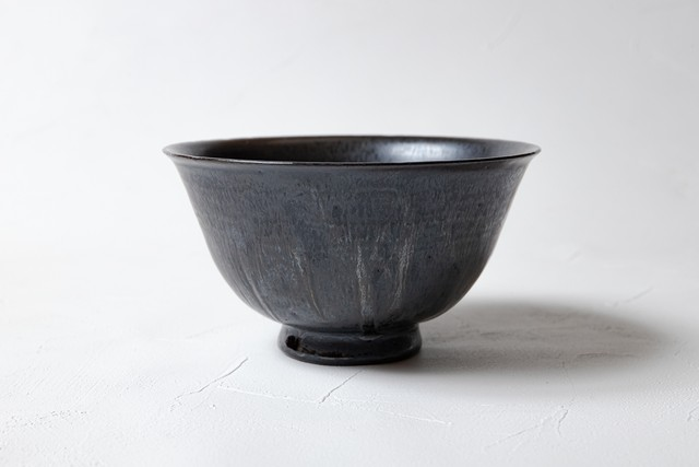 [田中 大喜]黒灰釉 丼鉢(小)