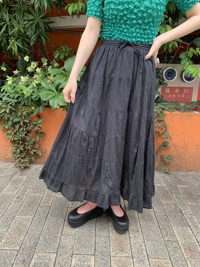 cotton tiered skirt [1170]