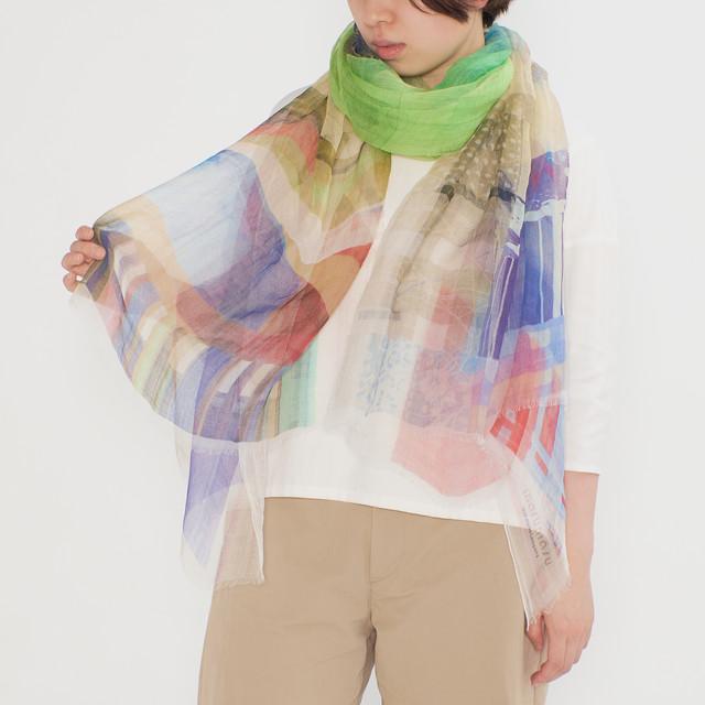 風を纏うラミーストール - JORNEY OF THE SCARF - 2colors