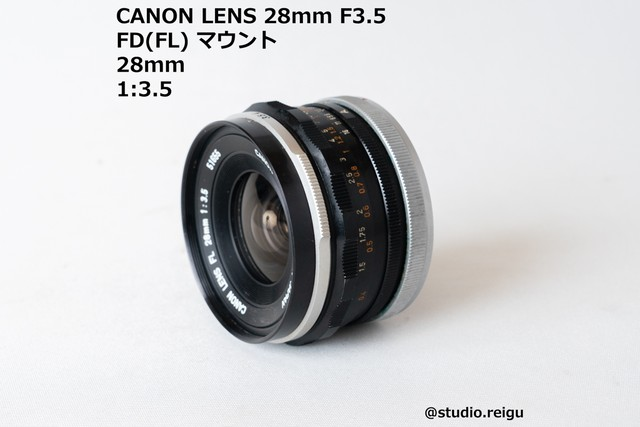 CANON LENS FL 28mm F3.5 【2008F2】