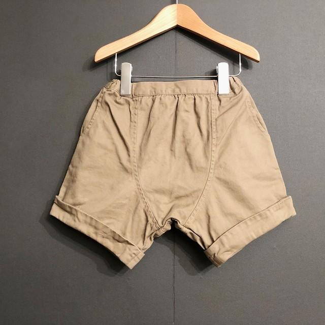 arkakama Twill Sarouel Shorts( DUNTY BEIGE ) M/L AKL00021※一枚までメール便可