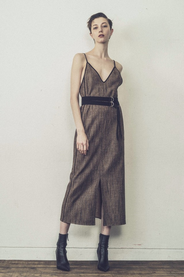 Mix wool Camisole Dress