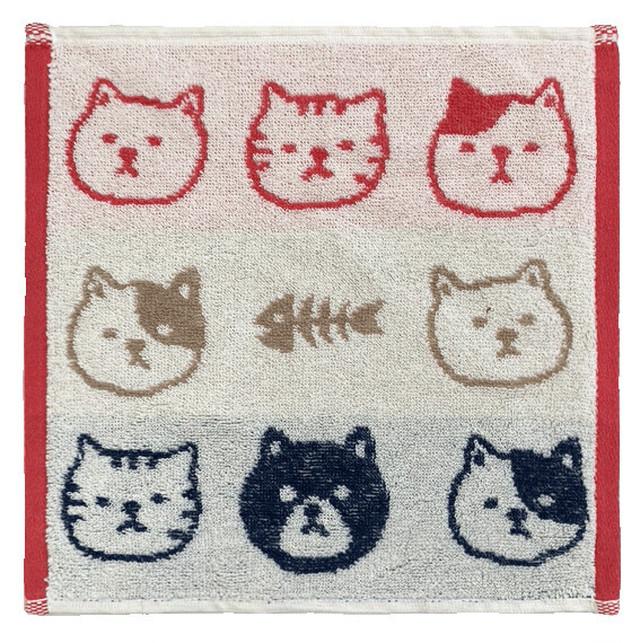【猫柄】バンダナ(白黒猫)