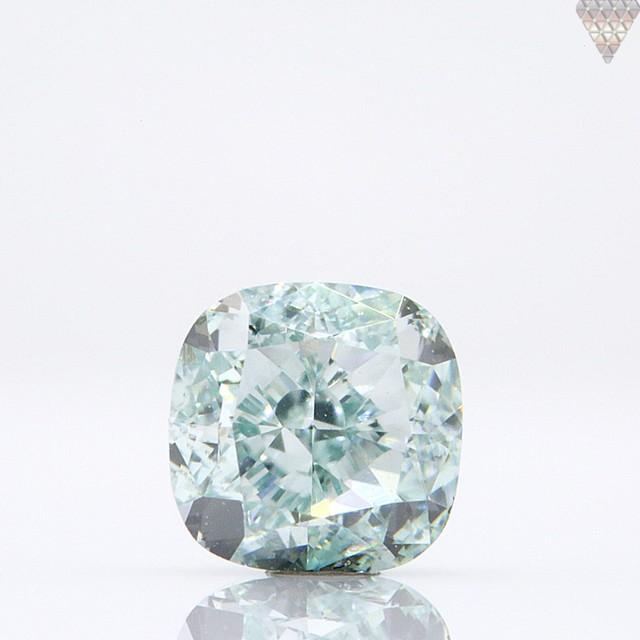 0.25 ct FANCY BLUE-GREEN VS1 CUSHION GIA 天然  ダイヤモンド ルース