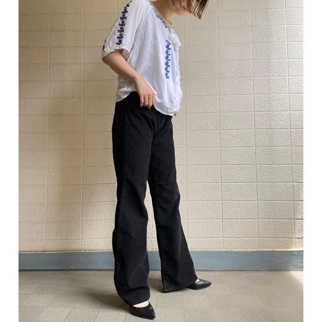 80s~90s J.C Penny Black corduroy flare pants