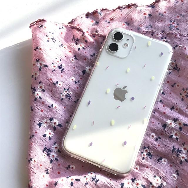 【新機種追加!!】[jjehouse] jje sprinkle  クリア iPhoneケース  (全7機種)