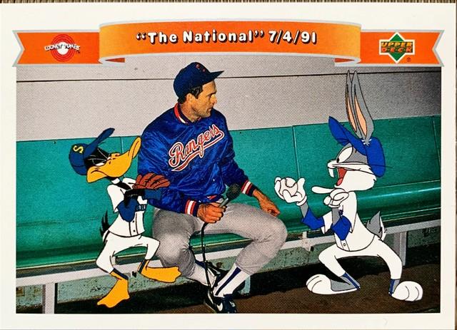 "MLBカード 92UPPERDECK Looney Tunes Nolan Ryan ""The National"" 7/4/91"