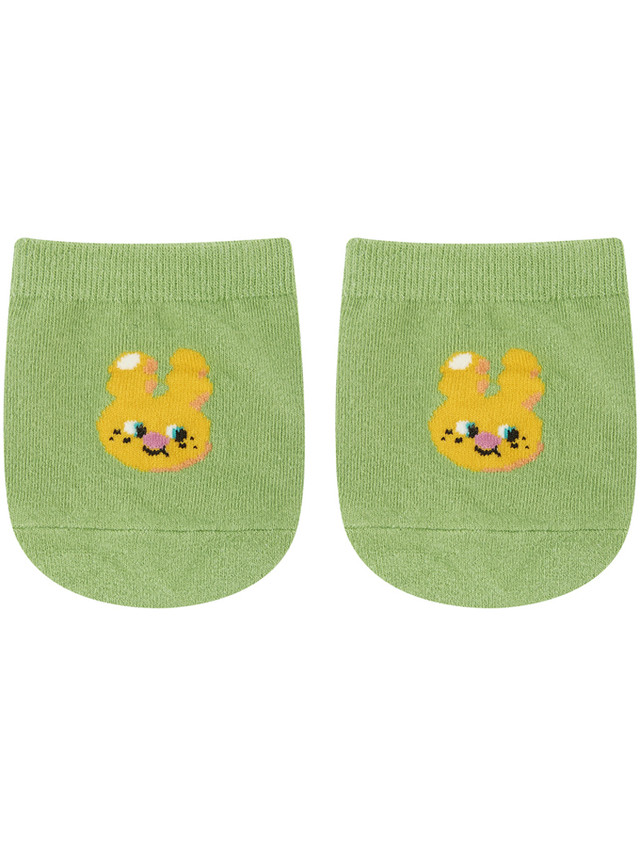 【SLOW COASTER】HALF SOCKS YELLOW RABBIT