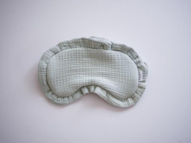 【極上の眠り・アイマスク】~日本製・6重ガーゼ~ブルー