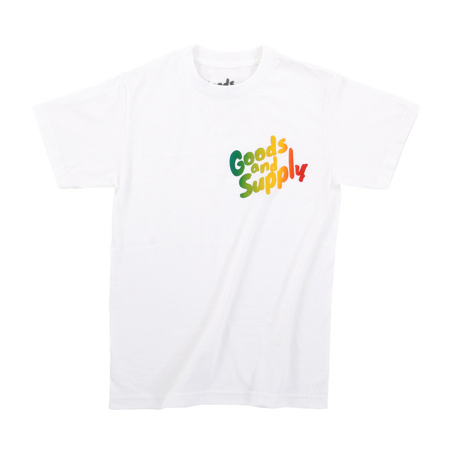 【Goods & Supply】Logo TiyDye Tee / Watermelon Ripple