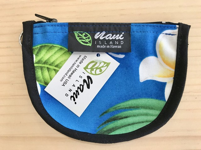 "NANI ISLAND ""MADE IN HAWAII"" POUCH (BLUE/WHITE)"