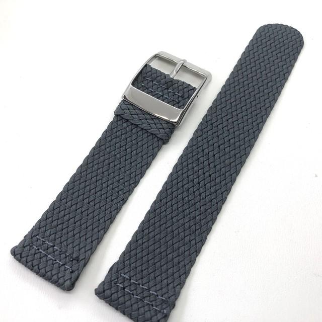セパレート(2ピース) パーロンナイロンストラップ ダークグレー 20mm 腕時計ベルト