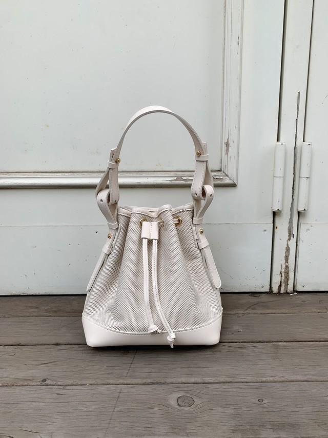 【予約】canvas combi 2way bag / off white × off white (5月末~6月上旬発送予定)