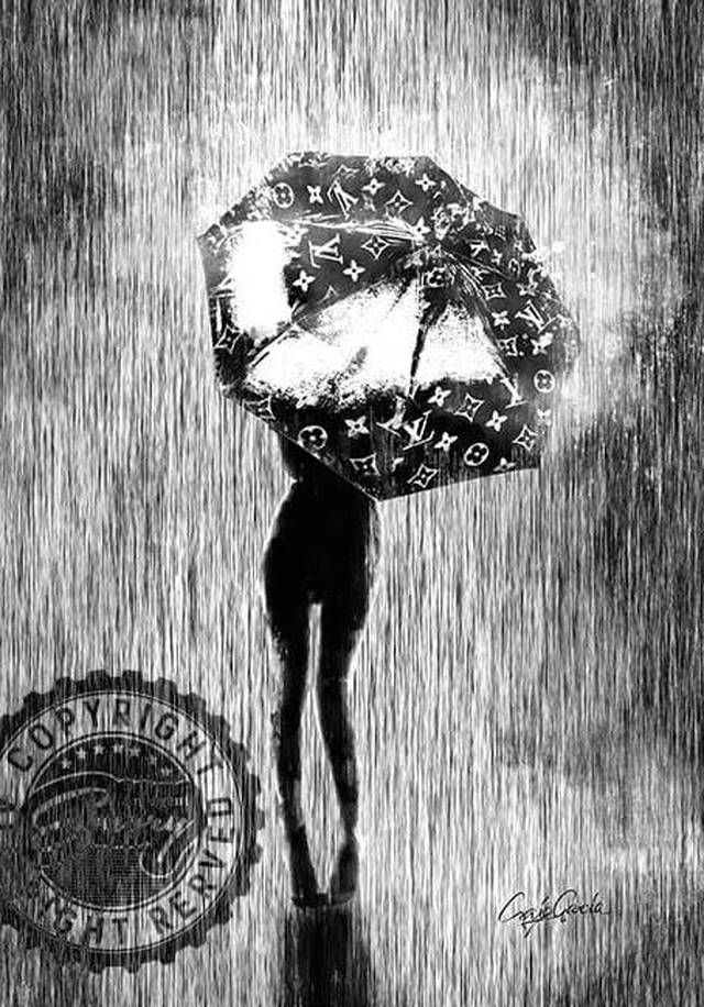 Craig Garcia × Lani Nina 作品名:laniopt - One palm tree  A1キャンバスポスターフレームセット【商品コード: cglaniopt01】