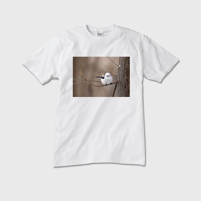 《癒やしの小鳥》シマエナガのオリジナルTシャツ(メンズ)【送料無料】