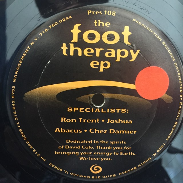 The Foot Therapy EP /   Ron Trent //Joshua //Abacus // Chez Damier