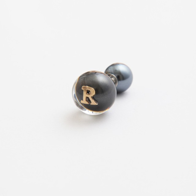 MAYU/PEARL RIVETS Black Pearl Initial,10mm Catch R