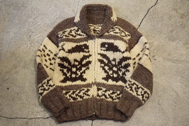USED Women Vintage Cowichan sweater -Small C0743