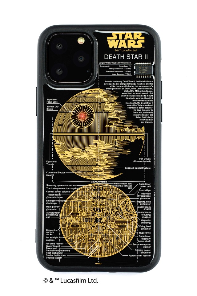 FLASH DEATH STAR 基板アート iPhone 11 Pro ケース  黒【東京回路線図A5クリアファイルをプレゼント】