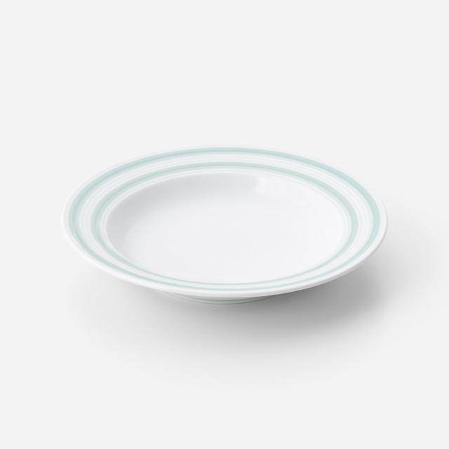 青磁千段 リム皿