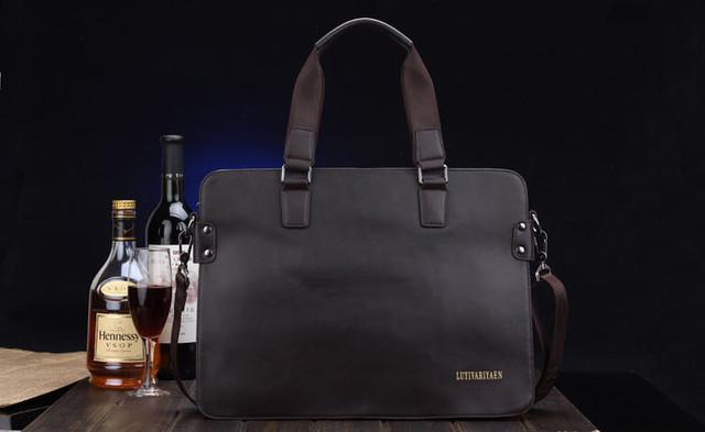 ビジネスバッグ 本革 ブリーフケース レザー メンズ アタッシュケース 斜めがけ 斜bag-85