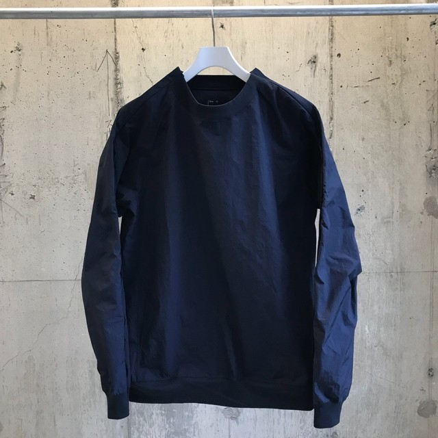 meanswhile Nylon Popper Shirt/NAVY