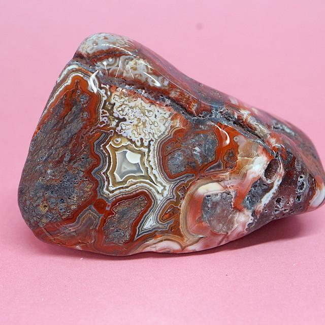 メキシコ クレイジーレース アゲート 24,5g AG135  鉱物 原石 天然石 パワーストーン