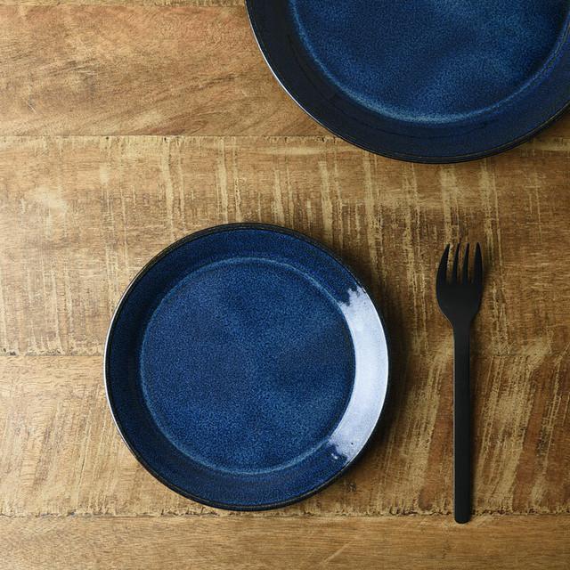 北欧ブルー 深ブルー 15cmプレート[美濃焼]