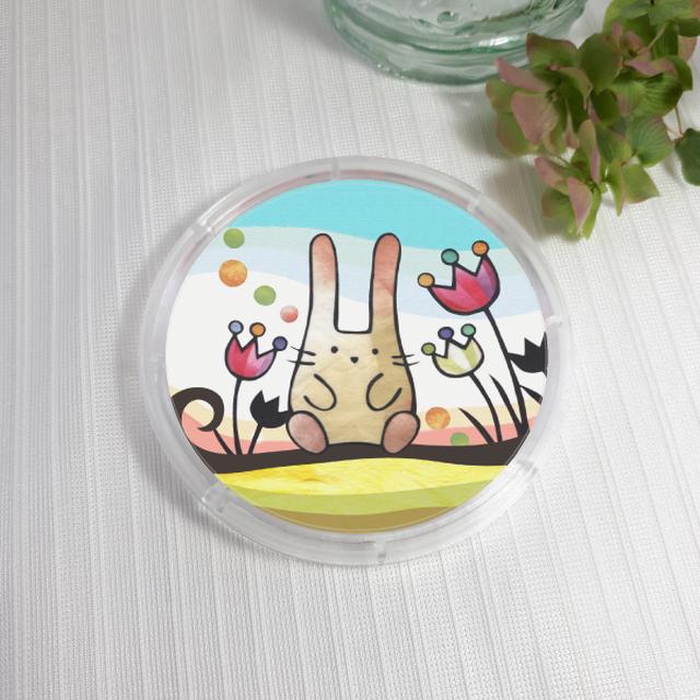 コースター :木登りウサギ