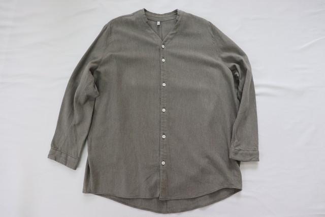SALE セール FIRMUM 【フィルマム】起毛ツイル Vネックカラーシャツ men's/women's
