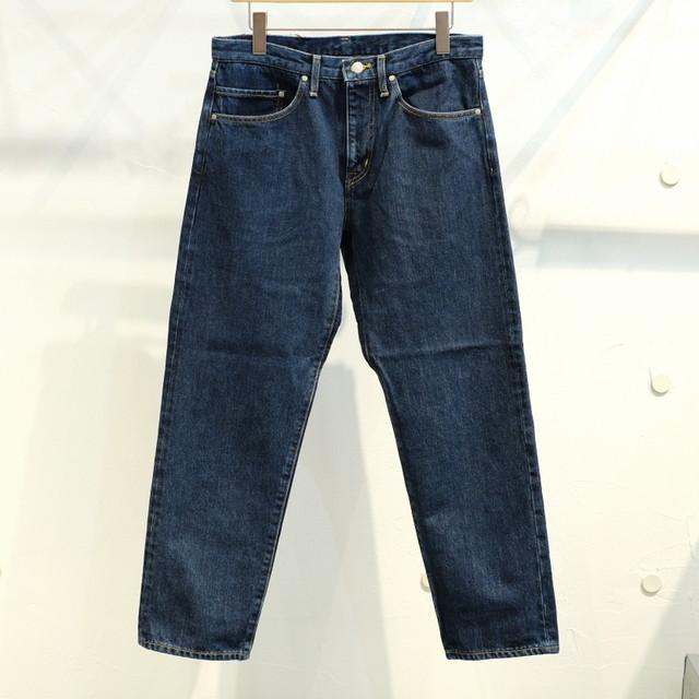 KUON(クオン) 裂き織りパッチ 5ポケットデニムパンツ