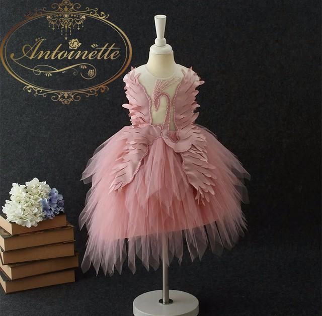 swan lake dress ballet 白鳥 ドレス バレエ 女の子 フェザードレス 可愛い ピンク 水色