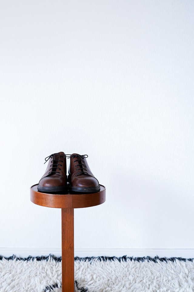 """【1990s】""""Dries Van Noten"""" 5 Holes Round-toe Leather Shoes"""