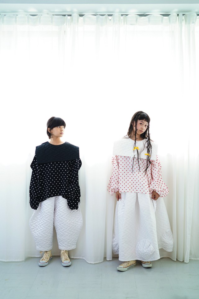 【20AW】フランキーグロウ ( frankygrow )BEAR QUILTING SAILOR COLLAR TP[ S / M / L ]white redトップス ブラウス