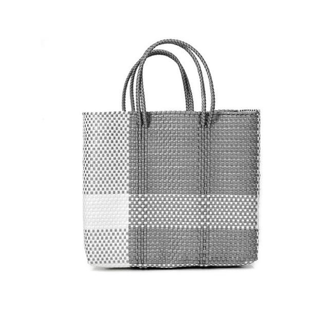 MERCADOBAG CROSS LINE - White x Silver (S)