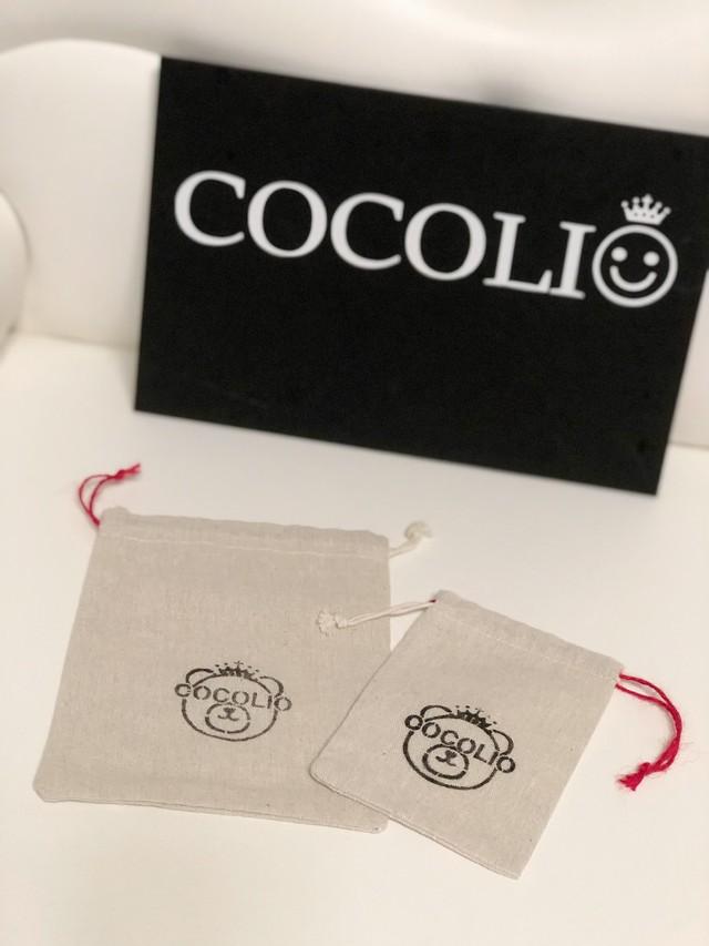 チャリティ対象 COCOLIO ココリオベア オリジナルミニポーチ【大・小セット】