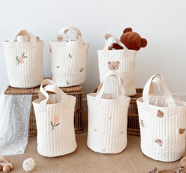 人気♪【即納】刺繍キルティングトートバッグ 鞄 韓国子供服