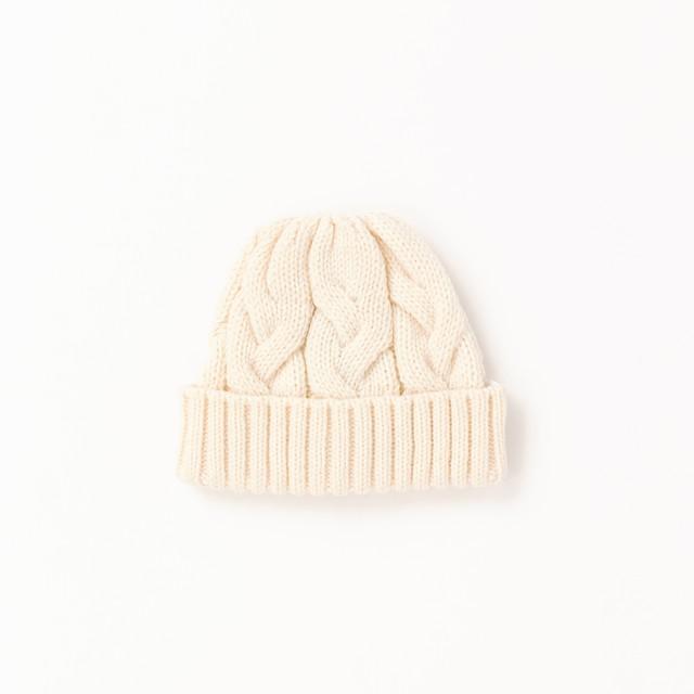 【VICTIM】VICTIM×CA4LA / CABLE KNIT CAP(WHITE)