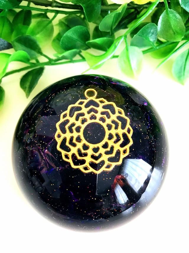 【アメジスト(紫水晶)】第7チャクラ対応オルゴナイト