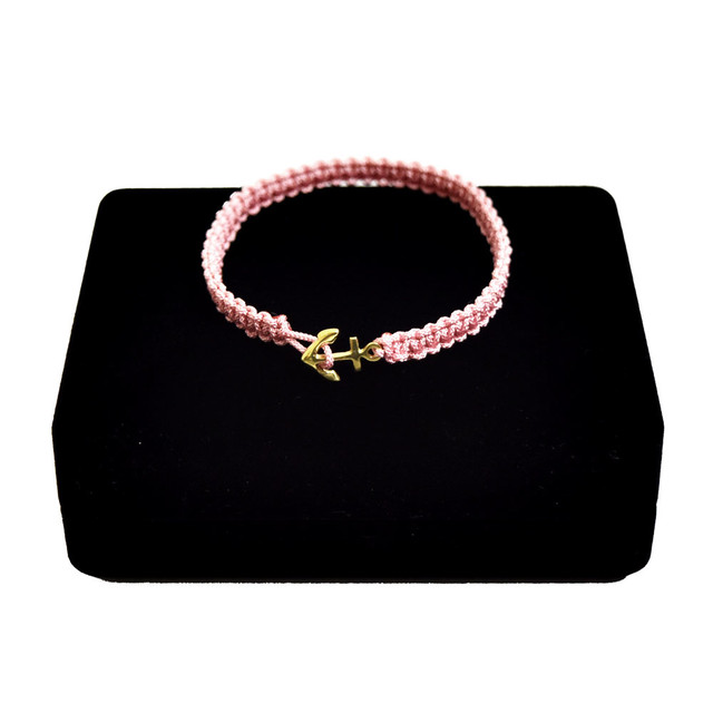 【無料ギフト包装/送料無料/限定】K18 Gold Anchor Bracelet / Anklet Dusty Pink【品番 17S2010】